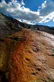 Mammoth Hot Springs Slope Stock Images