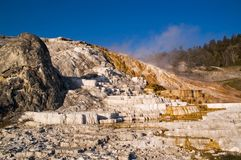 Mammoth hot springs Terraces Royalty Free Stock Images