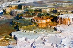 Mammoth Hot Springs Terraces Stock Photo