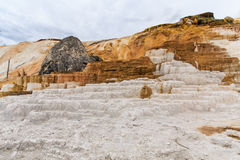Mammoth Hot Springs Terraces Yellowstone Royalty Free Stock Photography