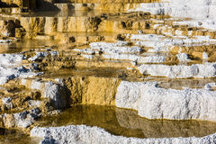 Mammoth hot springs travertine terraces in Yellowstone National Park Stock Photography