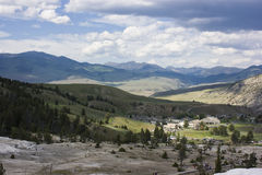 Mammoth Hot Springs Valley Stock Photos
