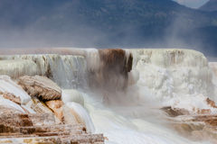 Mammoth Hot Springs Water Falls Stock Images
