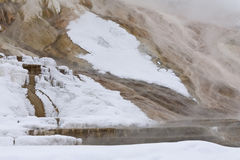 Mammoth Hot Springs, Winter, Yellowstone NP Royalty Free Stock Photo