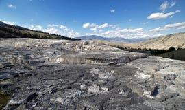 Mammoth Hot Springs Yellowstone. Stock Photo