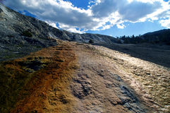 Mammoth Hot Springs in Yellowstone. Stock Images