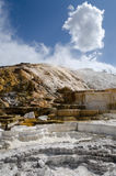 Mammoth Hot Springs in Yellowstone Stock Photos