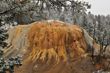 Mammoth Hot Springs yellowstone Arkivbilder