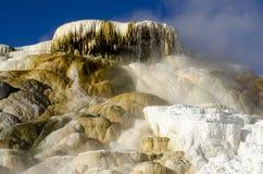 Mammoth Hot Springs in Yellowstone Stockbild