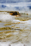 Mammoth Hot Springs Yellowstone Foto de archivo libre de regalías