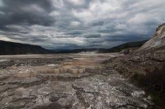 Mammoth hot springs, Yellowstone Stock Image