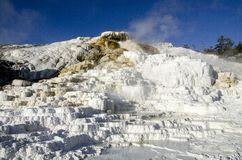 Mammoth Hot Springs in Yellowstone Stock Photo
