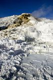 Mammoth Hot Springs in Yellowstone Stock Photography