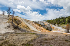 Mammoth Hot Springs in Yellowstone N.P. Stock Photo