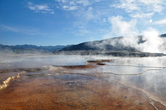 Mammoth Hot Springs. In Yellowstone National Park Royalty Free Stock Image