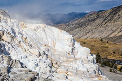 Mammoth hot springs in Yellowstone national park Stock Photo