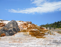 Mammoth Hot Springs  in Yellowstone National Park. Stock Photography