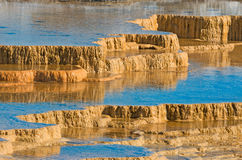 Mammoth Hot Springs in Yellowstone National Park. USA Stock Images