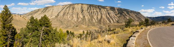 Mammoth Hot Springs View Above Campground. Mammoth Hot Springs  In Yellowstone National Park View Above Campground Royalty Free Stock Images