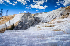 Mammoth Hot Springs, Yellowstone National Park Royalty Free Stock Images