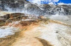 Mammoth Hot Springs, Yellowstone National Park, USA Royalty Free Stock Photography
