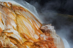 Mammoth Hot Springs. In Yellowstone NP,USA stock image