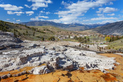 Mammoth Hot Springs, Yellowstone, Wyoming, U.S.A. Fotografia Stock Libera da Diritti