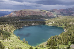 Mammoth Lakes Summer Storm in California. Summer storm growing above Lake Mary and Lake George in California's Sierra Nevada Mammoth Lakes Stock Photos