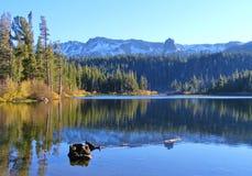 MAMMOTH MOUNTAIN FALL LAKE REFLECTIONS Royalty Free Stock Photo