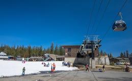 Mammoth Mountain Ski Area Stock Image
