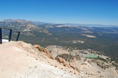 Mammoth mountain summit Royalty Free Stock Photos