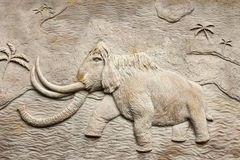 Mammoth relief Royalty Free Stock Photos