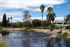 Mammoth sculpture at the La Brea Tar Pits. In Los Angeles Stock Image