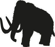 Mammoth silhouette Stock Photography