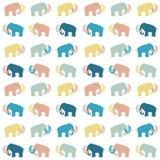 Mammoth silhouettes seamless Stock Photo