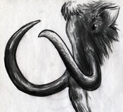 Mammoth sketch Royalty Free Stock Image