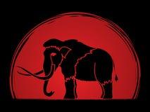 Mammoth standing graphic Stock Photos
