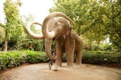 Mammoth statue in Ciutadella Park Stock Photo