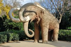 Mammoth in the park Royalty Free Stock Photo