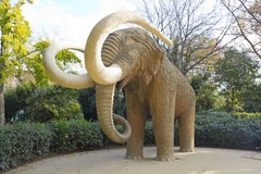 Mammoth statue in Park Ciutadela in Barcelona Royalty Free Stock Image