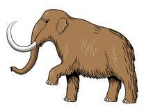 Mammoth. Stylized colored vector image. Stylized colored vector illustration of mammoth. Isolated on white background royalty free illustration