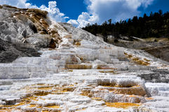 Free Mammoth Terraces, Yellowstone National Park, Wyoming, USA Stock Photo - 42153090
