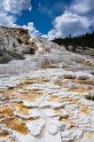 Mammoth Terraces, Yellowstone National Park, Wyoming, USA Stock Photos