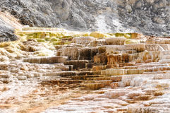 Mammoth Terraces, Yellowstone National Park, Wyoming, USA Stock Photography