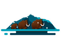 Mammoth vector Stock Image