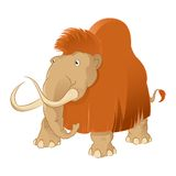 Mammoth. Vector image of an Cartoon shaggy mammoth Stock Photos
