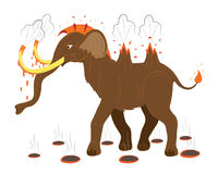 Mammoth volcano Stock Images