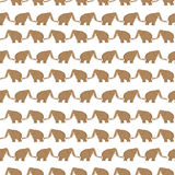 Mammoths pattern Stock Photography