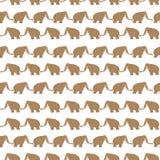 Mammoths pattern Stock Photography
