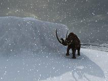 Mammouth de période glaciaire illustration libre de droits